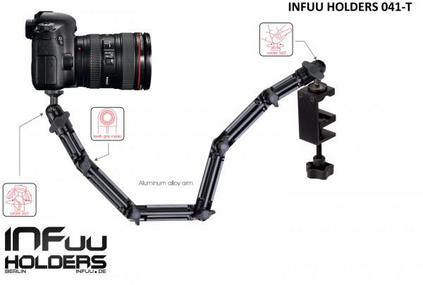Kamera Tisch-Klemme Halterung Camcorder Halter Befestigung Fotostativ Metall Alu Infuu Holders 041-T