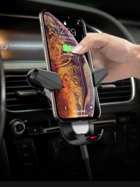 Gravity Locking car air vent holder universal Mobile Phone Smartphone mount vehicle 360° iPhone X XR 9 8 7 Samsung Galaxy S10 S9 S8, Note 9 10