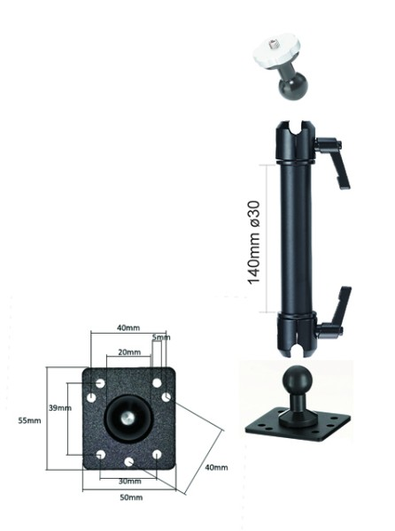 Camera Wall Ceiling Mount Camcorder Holder Mounting Photo Stand Metal Alu Infuu Holders 041-w