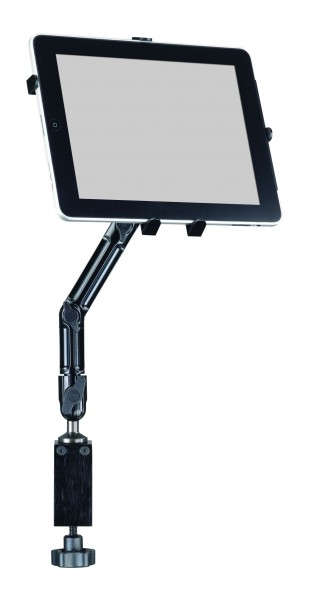 Mount table for iPad Galaxy Tab Tablet-PC holder arm aluminium metall stable