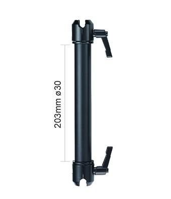 Arm bracket <3kg for ball 26mm 203mm long No203