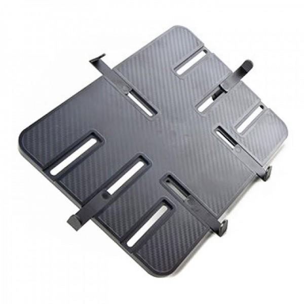 """Aufnahmeplatte PRO schwarz Carbon 1/4"""" Gewinde für große Tablets iPad Pro"""