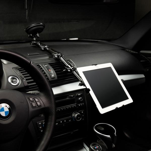 KFZ Halterung Metall Alu Saugnapf iPad 1 2 3 4 AIR mini Tablet-PC Scheibe 008