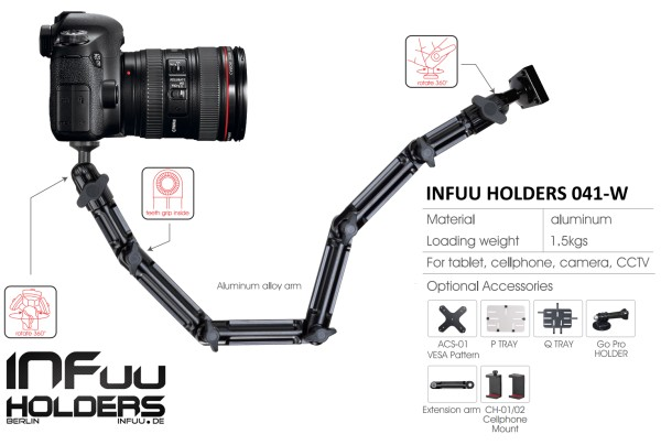 Kamera Wand Decke Halterung Camcorder Halter Befestigung Fotostativ Metall Alu Infuu Holders 041-w