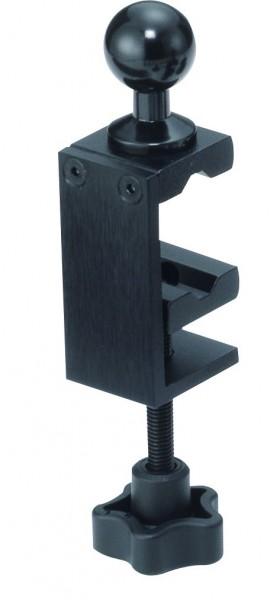 Base SC Basis Kugel 20mm zum Befestigen am Tisch oder Rohr bis 30mm Dicke