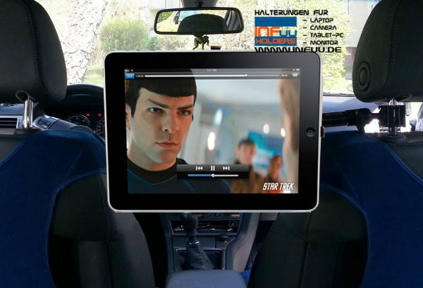 Kopfstützenhalterung lang iPad / Galaxy Tab / Tablet-PC KFZ