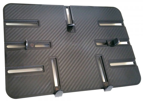 "Plyta montazowa tabela 300x210 Black Carbon 1/4 ""gwint do tabletu iPad 015"