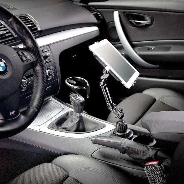حامل اي باد للسيارة يثبت بمكان الكأس لاجهزة الاي باد و الغالاكسي