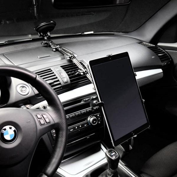 KFZ Halterung Metall Alu Saugnapf iPad 1 2 3 4 AIR Tablet-PC Scheibe 008-P1