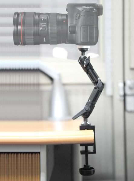 Halterung für Kamera Camcorder CCTV Tisch-Klemme Arm Holder