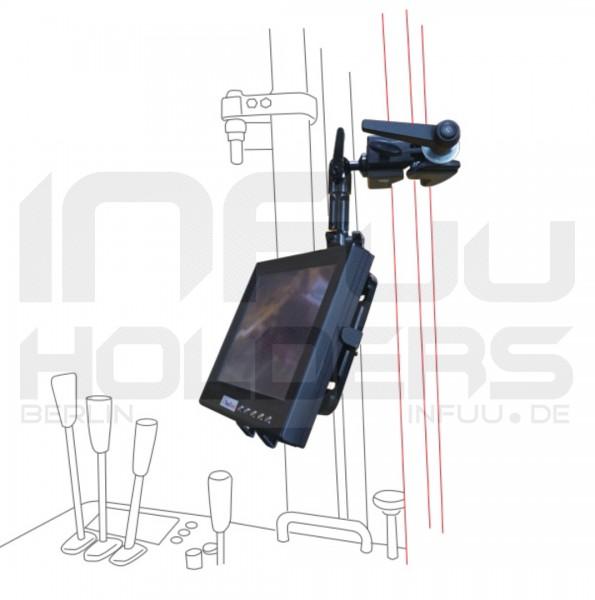 Halterung universal iPad Galaxy Tab Note Tablet-PC für Tisch Rohr Klemme Superclamp