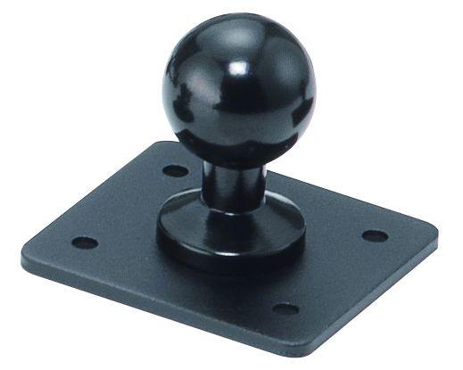 Base SP Basis Platte Kugel 20mm zum Verschrauben 55x50mm 124-20