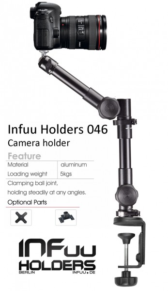 Table Camera Mount Camcorder Clamp Photographic Monopod Metal Infuu Holders 046