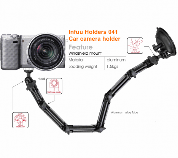 Camera holder mount suction cup for car bus truck stand for camcorder